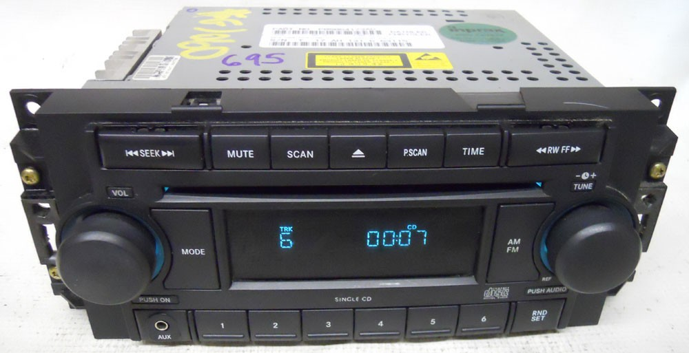 Dodge Charger 2006 2007 Factory Stereo Aux Cd Player Radio