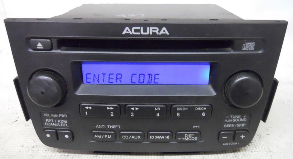 Acura Radio Serial Number Lookup