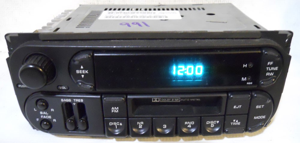 Chrysler Town & Country 2002 2003 2004 2005 2006 2007 Factory Tape Radio - Town & Country - Chrysler