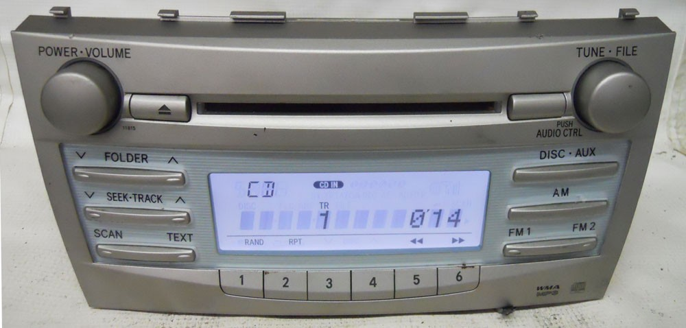 Toyota Camry 2007 2008 2009 Factory Stereo Mp3 Cd Player Radio 86120 Rhoemdirectradios: 2007 Toyota Camry Radio Cd Changer At Elf-jo.com