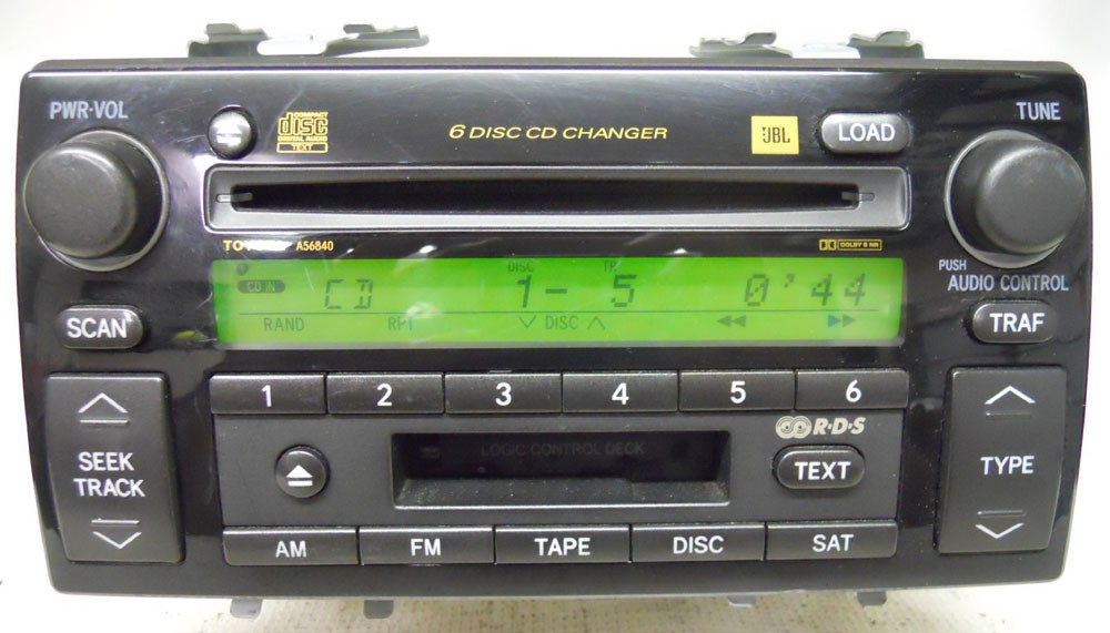 toyota camry 2005 2006 factory stereo jbl 6 disc changer cd playertoyota camry 2005 2006 factory stereo jbl 6 disc changer cd player oem radio 86120aa180