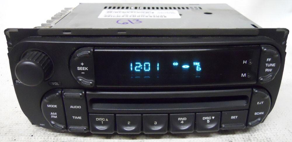 Dodge Durango 2002 2003 Factory Stereo Cd Player Radio P05091506ae