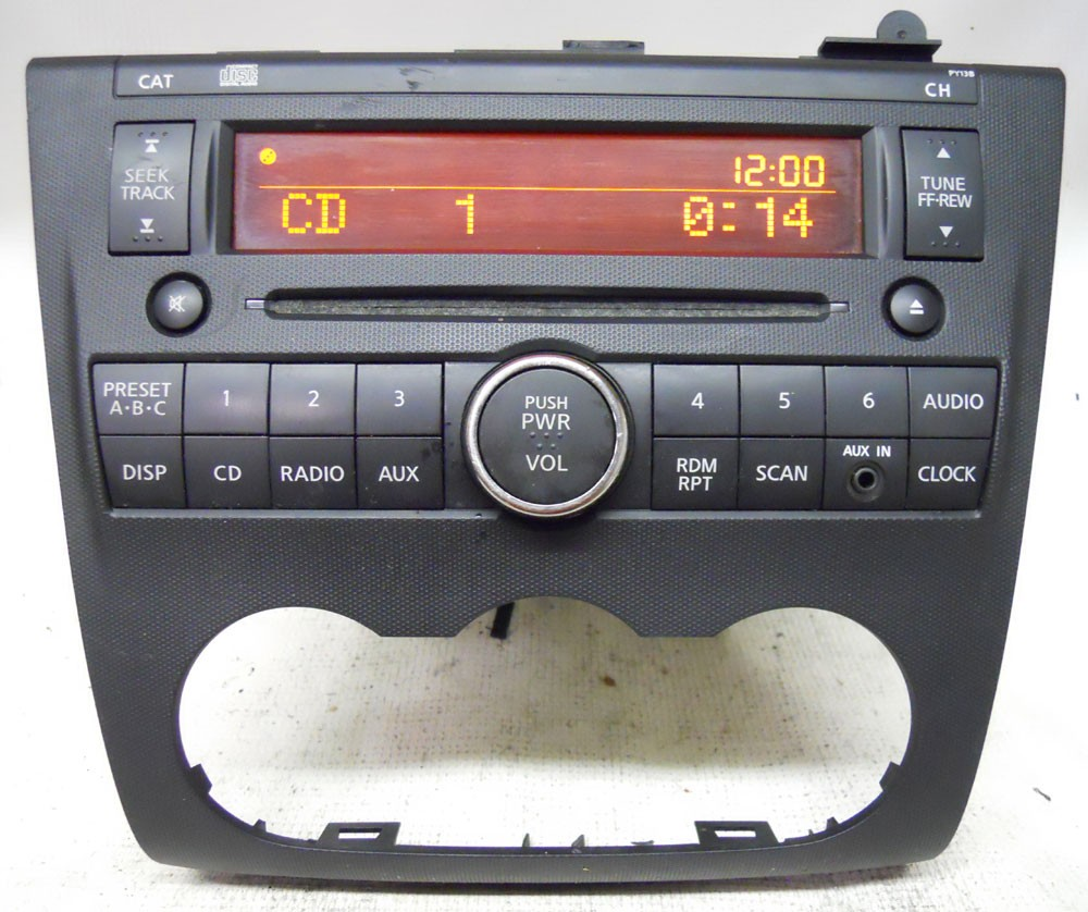 Nissan Altima 2007 2008 2009 Factory CD Player Radio AUX Input 28185JA000 PY13B