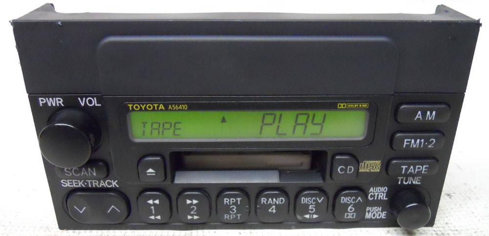 toyota camry 2000 2001 factory stereo tape player radio 861200c010 rh oemdirectradios com toyota factory radio navigation toyota factory radio to aftermarket usb