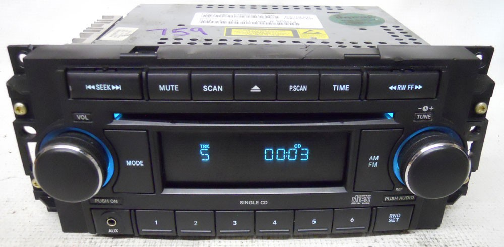 dodge charger 2006 2007 factory stereo aux cd player radio. Black Bedroom Furniture Sets. Home Design Ideas