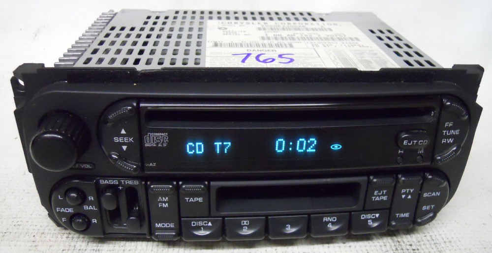 chrysler voyager 2002 2003 factory stereo tape cd player. Black Bedroom Furniture Sets. Home Design Ideas
