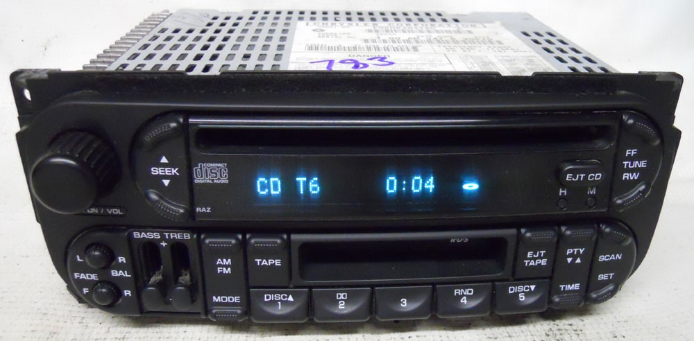 Jeep Wrangler 2004 2005 Factory Stereo Tape Cd Player