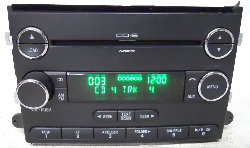 ford fusion 2006 2007 2008 2009 factory stereo mp3 6 cd. Black Bedroom Furniture Sets. Home Design Ideas