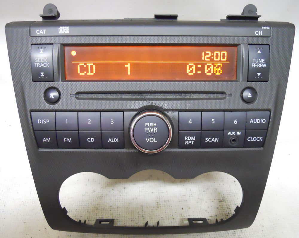 nissan altima    factory stereo cd player radio aux input pyg