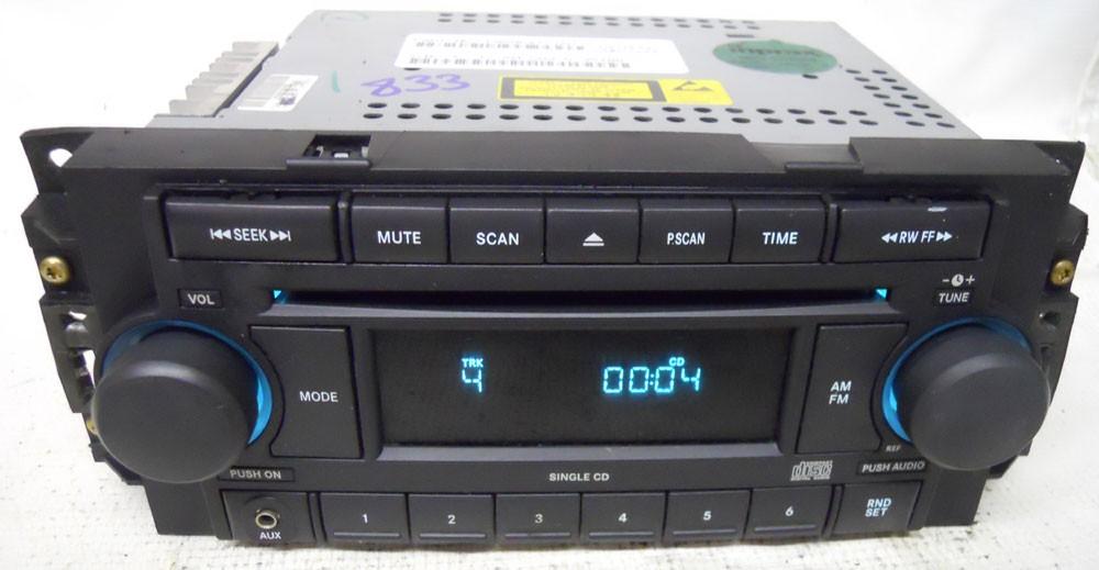 Dodge Dakota 2005 2006 2007 Factory Stereo Aux Cd Player Radio Ref P05064173ah