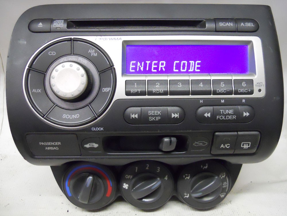 Honda Fit 2007 2008 Factory Stereo MP3 CD Player OEM Radio 39101SLNC010M1