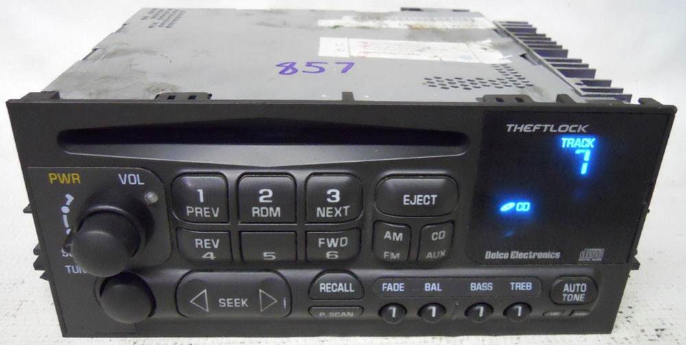 Gmc Yukon 1995 Fm Cd Player Radio