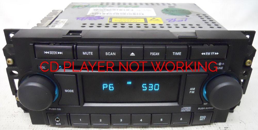 Dodge Dakota 2005 2006 2007 Factory Stereo Aux Cd Player Radio Ref P05064173af