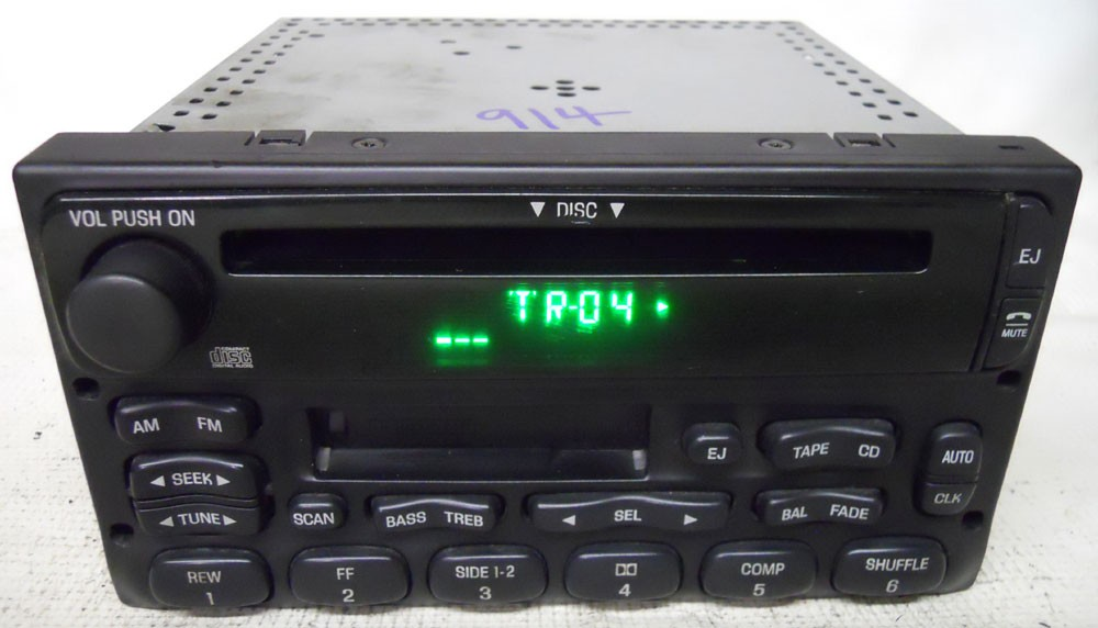 Ford Escape 2001 2002 2003 2004 Factory Tape Cd Player Radio Rhoemdirectradios: 2004 Ford Escape Radio At Gmaili.net