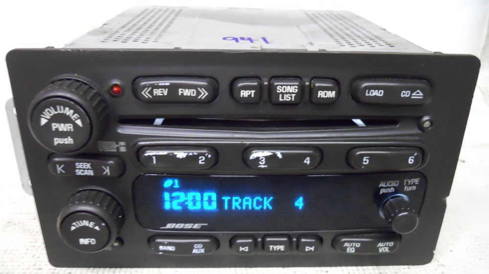 Chevy Trailblazer 2005 2006 Factory Stereo Bose 6 Disc Cd Player Radio 10359565